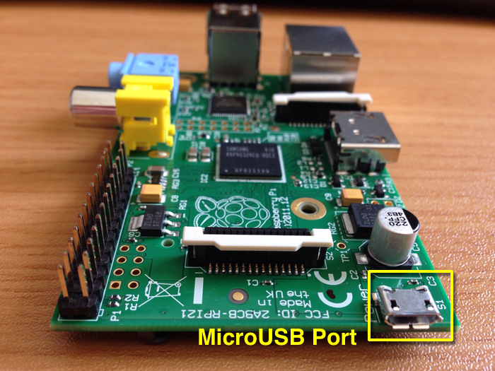 Raspberry Pi microUSB port