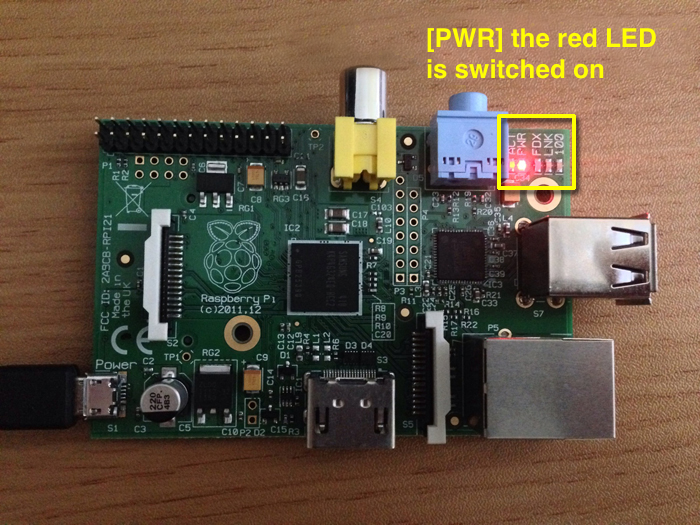 Raspberry Pi Power red LED