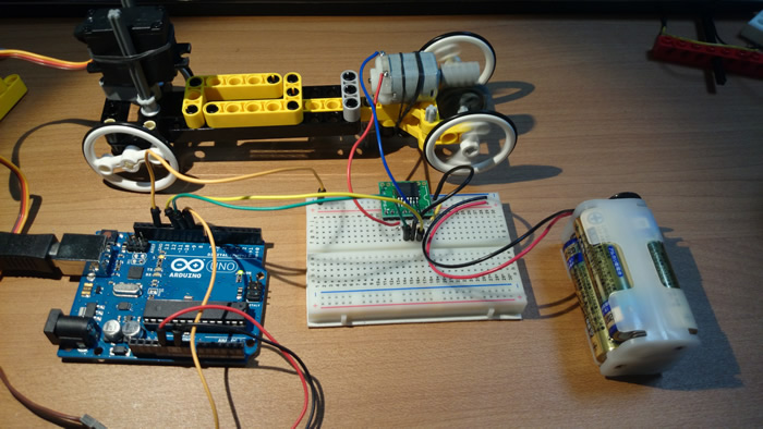 Testing Arduino RC car circuit