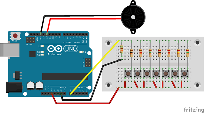 Circuit for a single instrument gadget