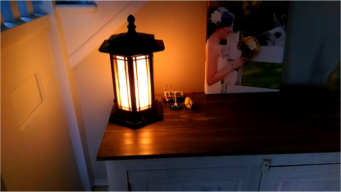 raspberry pi motion control lamp