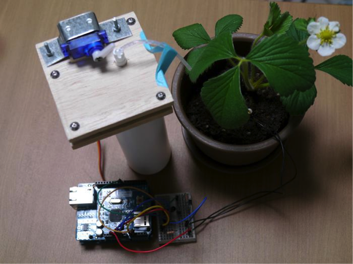 Completed plant monitoring device