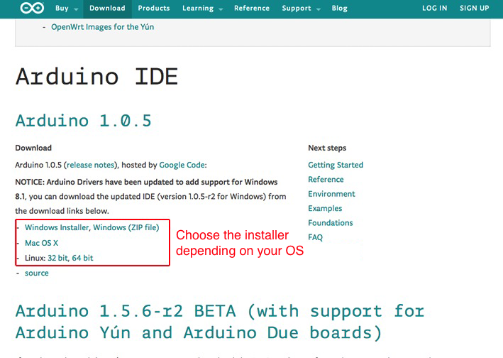 Arduino IDE available for different OS
