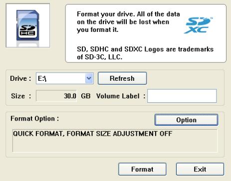 Panasonic SD Card Formatter 01