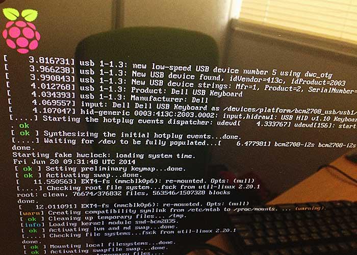 Raspberry Pi Starting Screen