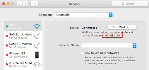 Mac IP address