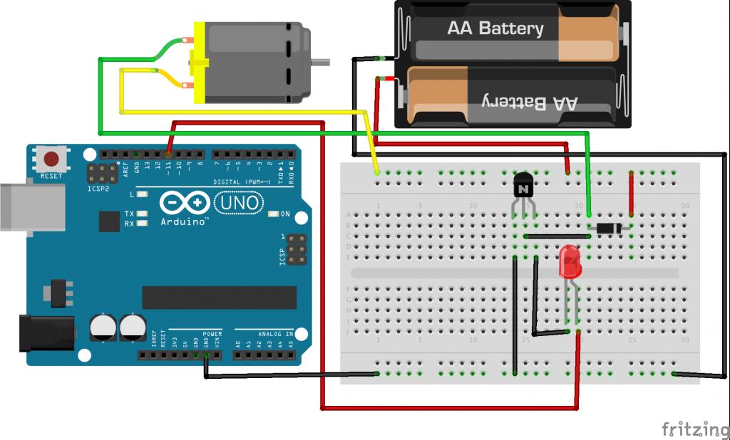 Arduino breadboard servo motor batteries