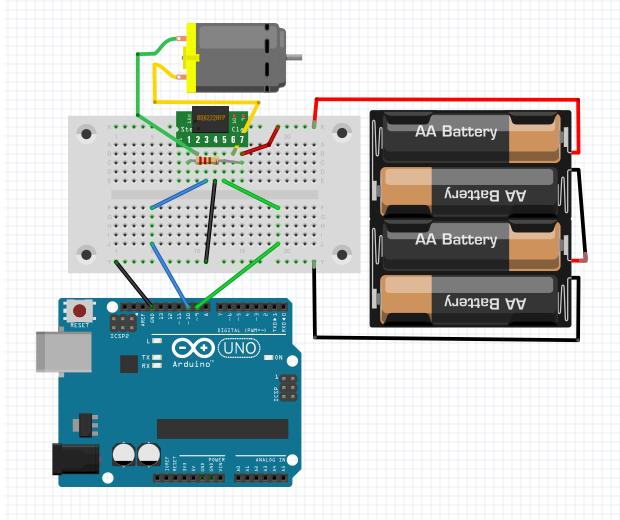 Arduino DC Motor Circuit