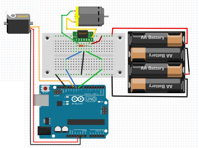 Arduino RC car circuit