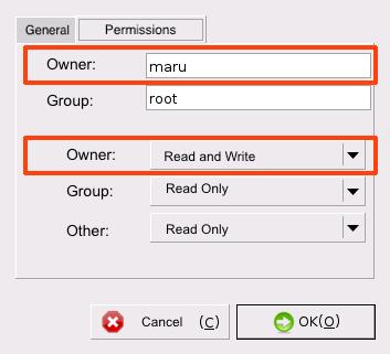 Raspbian Folder Properties