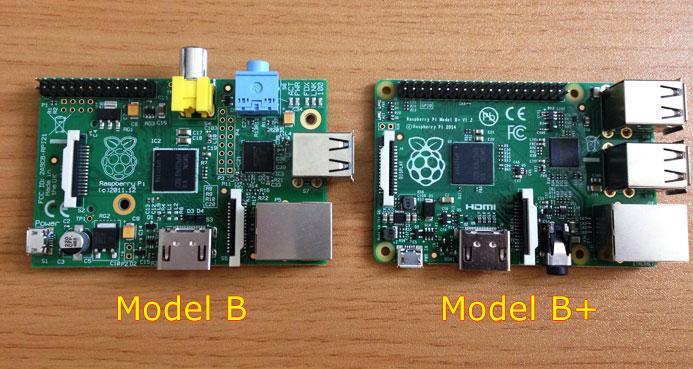 Raspberry Pi B VS Raspberry Pi B+