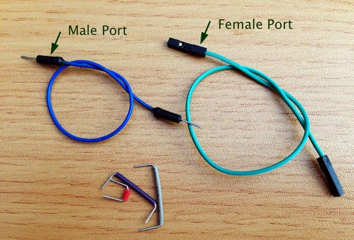 Jumper wire male port female port