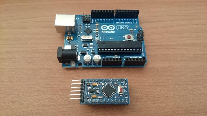 Comparison between Arduino UNO and Arduino Pro Mini