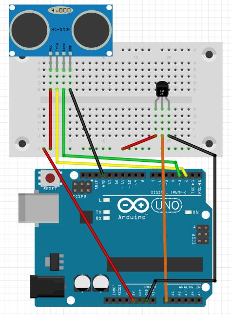 Arduino ultrasound sensor wiring