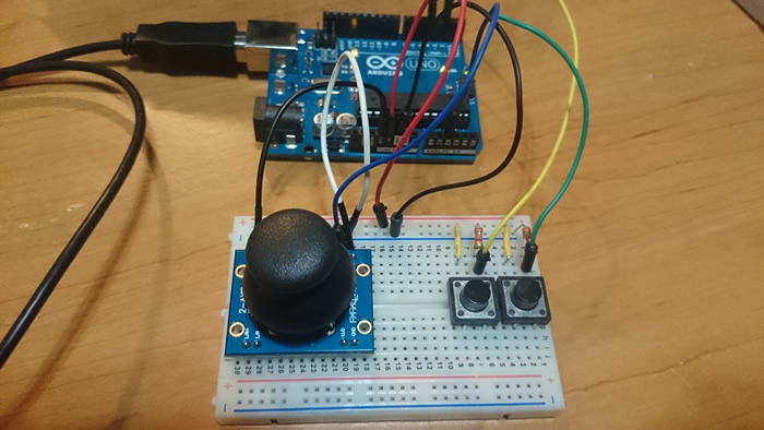Controller connected to Arduino