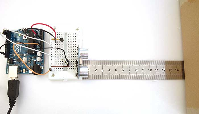 Arduino ultrasound and temperature sensors