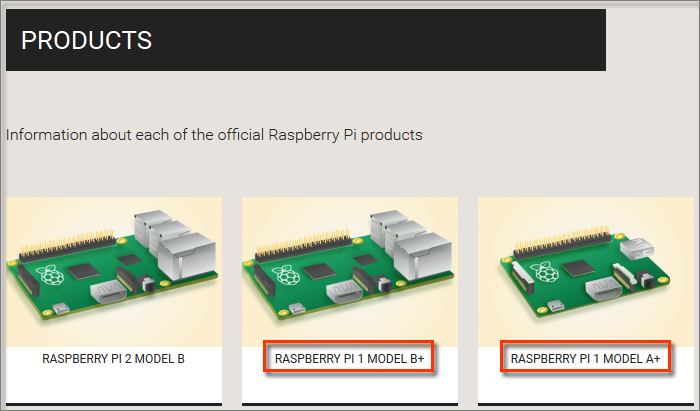 Raspberry Pi Product Page