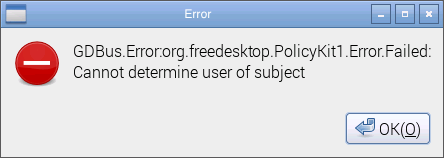 Raspberry Pi2 GDBus error message