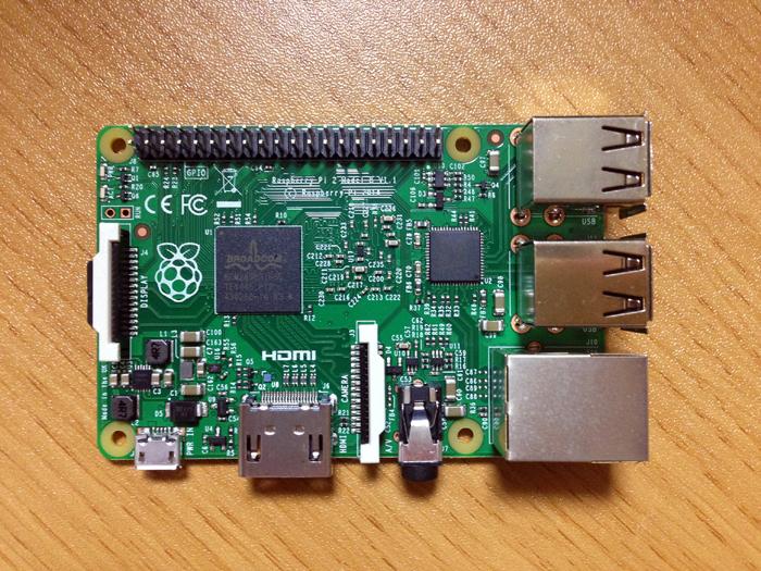 Raspberry Pi 2 exterior appearance