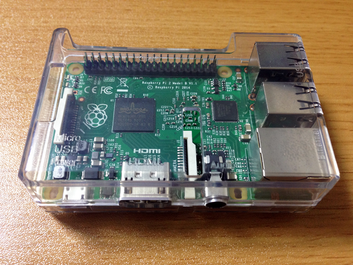 Raspberry Pi2 in Raspberry Pi1 case