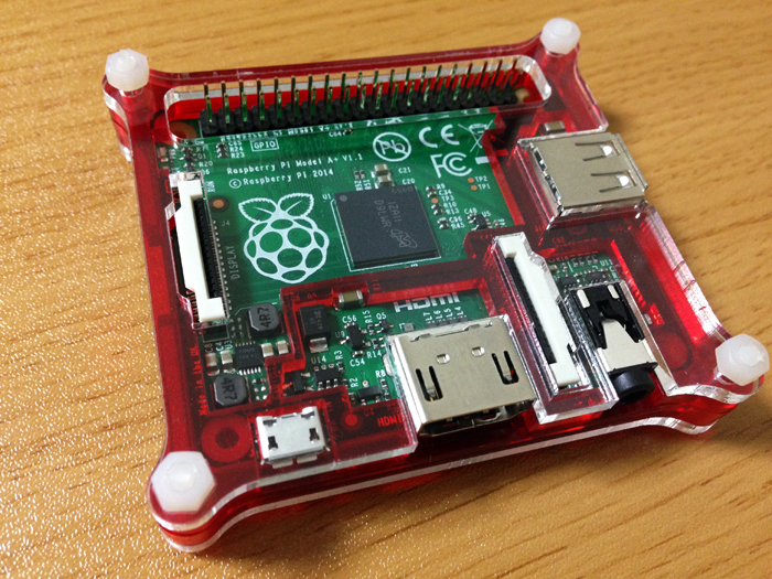 Raspberry Pi2 in red case