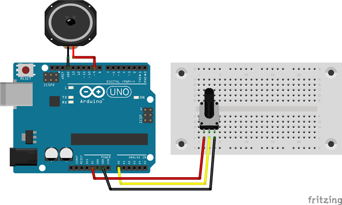 Arduino Volume Variable Resistance Circuit