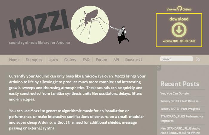 Mozzi Download Page