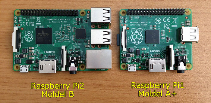 Raspberry Pi 2 compared to Raspberry Pi A+