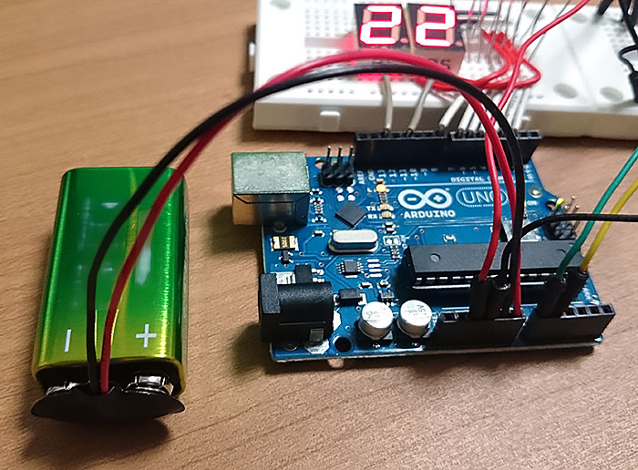 Arduino with 9v battery