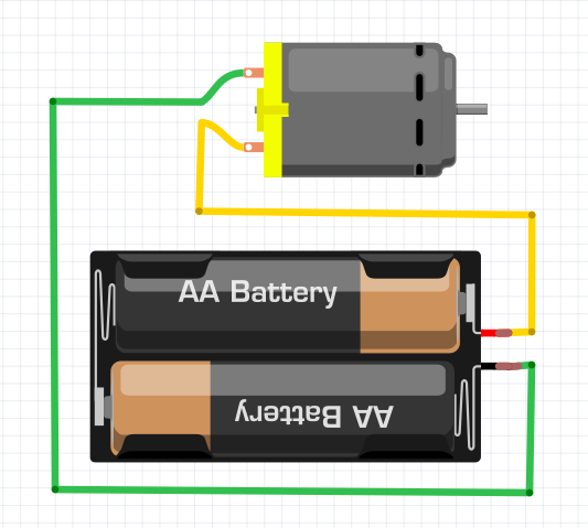 Servo motor and batteries