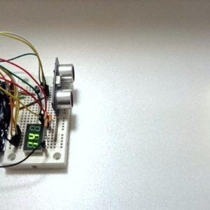Arduino with ultrasonic sensor