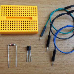 Breadboard, Thermometer sensor, resistance