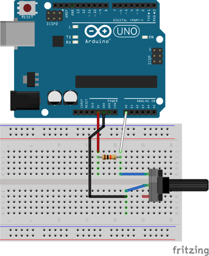arduino bluetooth gloves Voltage divider circuit diagram