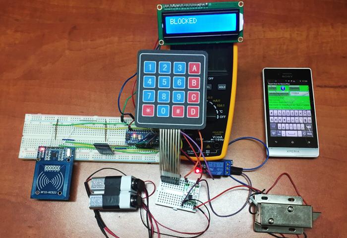 Make your own arduino rfid door lock part