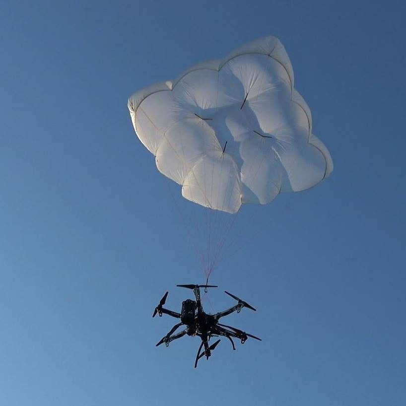 Drone parachute system by Drone Rescure System