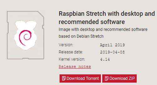 Download version Raspbian OS