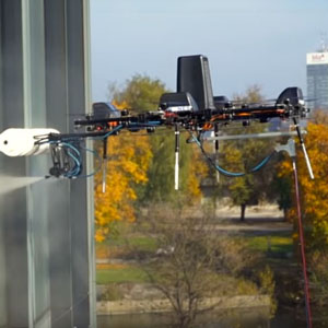 robotic window cleaning drones