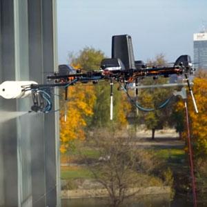 robotic window cleaning drones