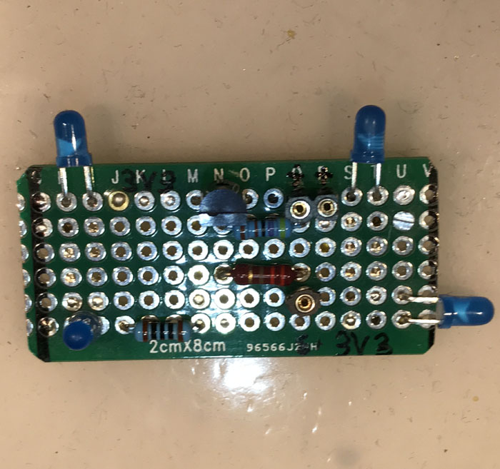 LED heartbeat board