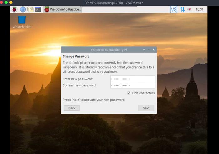 Change 'pi' user password