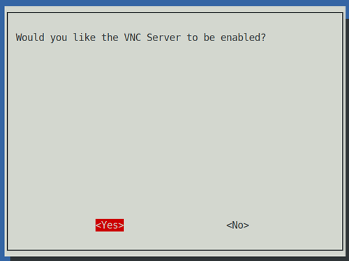 Enable VNC server step 3/3