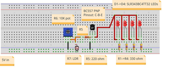 LDR analog circuit diagram