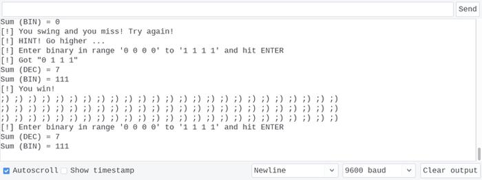 Boolean 4-bit minigame WINNER!