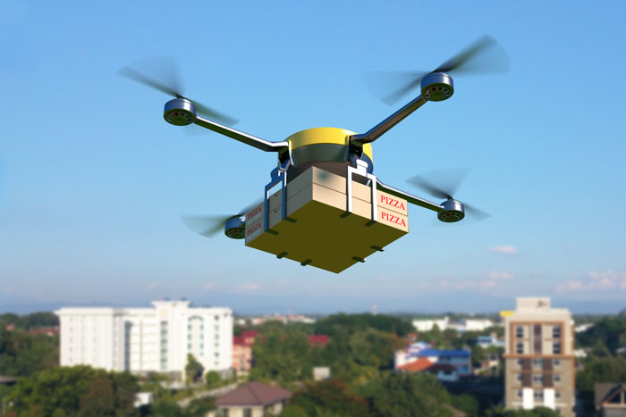 commercial food delivery by drones