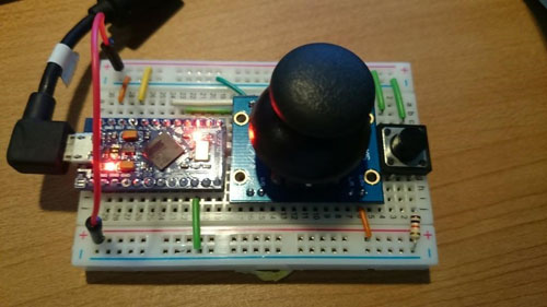 mouse device from a joystick
