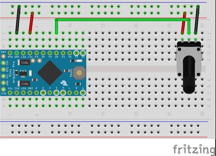 Arduino Pro Micro adjusting volume