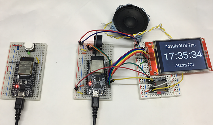 use ESP32 to make a wake up alarm clock