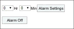 alarm clock settings