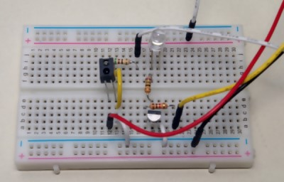 assembled on a breadboard