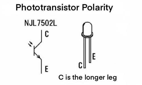 phototransistor polarity